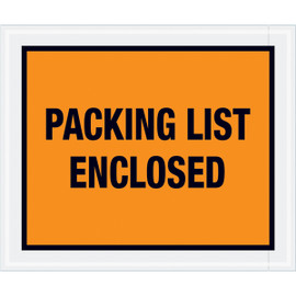 Full Face Orange  inchPacking List Enclosed inch Envelopes 10 inch x 12 inch (500 Pack)
