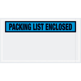 Panel Face Blue  inchPacking List Enclosed inch Envelopes 5 1/2 inch x 10 inch (1000 Pack)