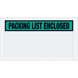 Panel Face Green  inchPacking List Enclosed inch Envelopes 5 1/2 inch x 10 inch (1000 Pack)