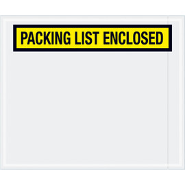 Panel Face Yellow  inchPacking List Enclosed inch Envelopes 10 inch x 12 inch (500 Pack)
