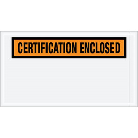 Special Use Orange  inchCertification Enclosed inch Envelopes 5 1/2 inch x 10 inch (1000 Pack)
