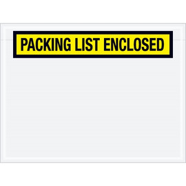 Panel Face Yellow  inchPacking List Enclosed inch Envelopes 4 1/2 inch x 6 inch (1000 Pack)