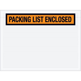 Panel Face Orange  inchPacking List Enclosed inch Envelopes 4 1/2 inch x 6 inch (1000 Pack)