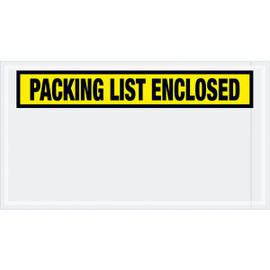 Panel Face Yellow  inchPacking List Enclosed inch Envelopes 5 1/2 inch x 10 inch (1000 Pack)