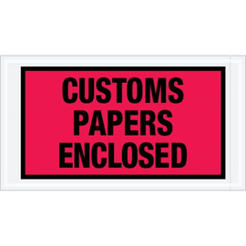 Special Use Red  inchCustoms Papers Enclosed inch Envelopes 5 1/2 inch x 10 inch (1000 Pack)