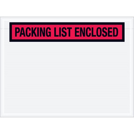 Panel Face Red  inchPacking List Enclosed inch Envelopes 4 1/2 inch x 6 inch (1000 Pack)