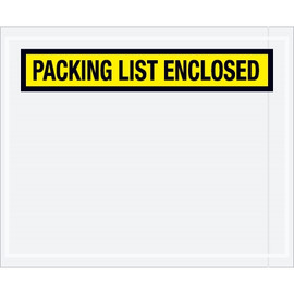 Panel Face Yellow  inchPacking List Enclosed inch Envelopes 4 1/2 inch x 5 1/2 inch (1000 Pack)