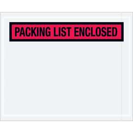 Panel Face Red  inchPacking List Enclosed inch Envelopes 4 1/2 inch x 5 1/2 inch (1000 Pack)