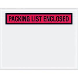 Panel Face Red  inchPacking List Enclosed inch Envelopes 7 inch x 5 1/2 inch (1000 Pack)
