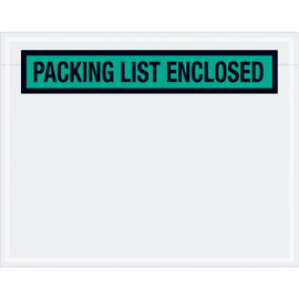 Panel Face Green  inchPacking List Enclosed inch Envelopes 7 inch x 5 1/2 inch (1000 Pack)