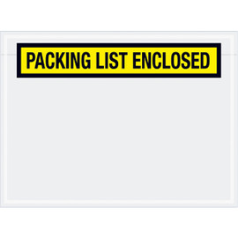 Panel Face Yellow  inchPacking List Enclosed inch Envelopes 6 3/4 inch x 5 inch (1000 Pack)