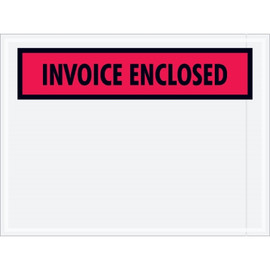 Red  inchInvoice Enclosed inch Envelopes 4 1/2 inch x 6 inch (1000 Pack)