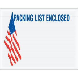 U.S.A. Flag  inchPacking List Enclosed inch Envelopes 7 inch x 5 1/2 inch (1000 Pack)