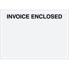 Clear  inchInvoice Enclosed inch Envelopes 7 inch x 5 inch (1000 Pack)