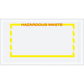 Yellow Border  inchHazardous Waste inch Document Envelopes 5 1/2 inch x 10 inch (1000 Pack)