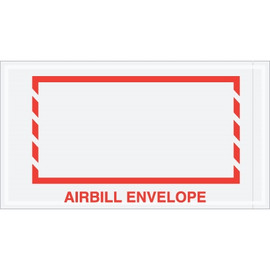 Red Border  inchAirbill Envelope inch Document Envelopes 5 1/2 inch x 10 inch (1000 Pack)