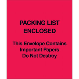 Red (Paper Face)  inchPacking List Enclosed inch This.. Envelope 5 inch x 6 inch (1000 Pack)