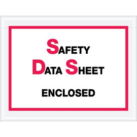 inchSafety Data Sheet Enclosed inch SDS Envelopes 6 1/2 inch x 5 inch (1000 Pack)