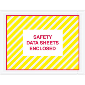 inchSafety Data Sheet Enclosed inch SDS Envelopes 4 1/2 inch x 6 inch (1000 Pack)