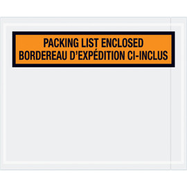 Bilingual Packing List Envelopes English/French  4 1/2 inch x 5 1/2 inch (1000 Pack)