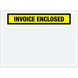 Yellow  inchInvoice Enclosed inch Envelopes 7 1/2 inch x 5 1/2 inch (1000 Pack)