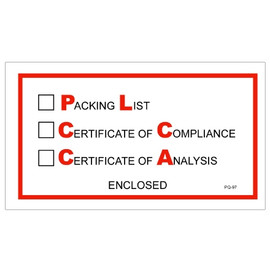 inchPacking List/Cert of Compliance/Cert. of Analysis Enclosed inch Envelopes 5 1/2 inch x 10 inch (1000 Pack)