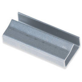 Open/Snap On Metal Poly Strapping Seals 1/2 inch x 1 1/4 inch (1000 Per/Pack)