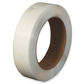 Hand Grade Polypropylene Strapping Clear  1/2 inch x .028 x 6600 ft Roll on 16 inch x 6 inch Core
