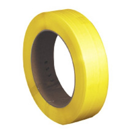 Hand Grade Polypropylene Strapping Yellow  1/2 inch x .031 x 7200 ft Roll on 16 inch x 6 inch Core