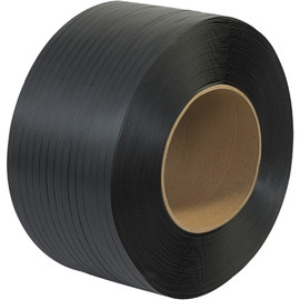 Machine Grade Polypropylene Strapping Black 1/2 inch x .026 x 6600 ft Roll on 9 inch x 8 inch Core