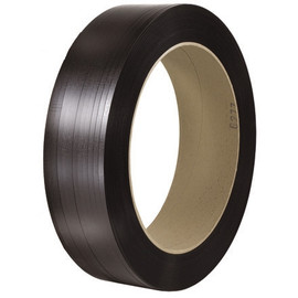 Polyester Strapping Black  1/2 inch x 4500 ft Roll on 16 inch x 3 inch Core (2 Roll/Pack)
