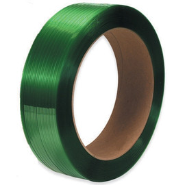 Polyester Strapping Green  5/8 inch x 2200 ft Roll on 16 inch x 3 inch Core (2 Roll/Pack)