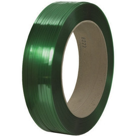 Signode® Comparable Polyester Strapping Green  7/16 inch x 9000 ft Roll on 16 inch x 6 inch Core