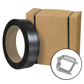 Jumbo General Purpose Poly Strapping Kit, 1/2 inch x 9000 ft