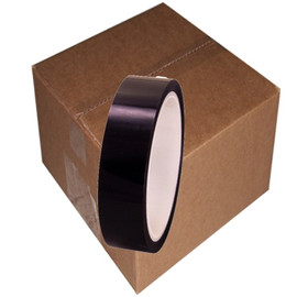 Pro-Sheen 1 inch x 36 yards Black High Temp Mylar Tape (108 Roll Pack)