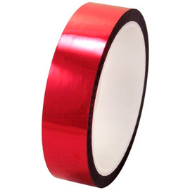 Pro-Sheen 1 inch x 36 yard Roll Red High Temp Mylar Tape