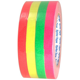 Pro Gaff Fluorescent Short Stack Gaffers Spike Tape 1/2 inch x 20 yard Roll