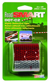 RoadSmart DOT-C2 Highly Reflective Red / Silver 2 inch x 10 ft Roll