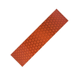 Fluorescent Orange Oralite Retroreflective Tape 5 year 2 inch x 1 yard Strip