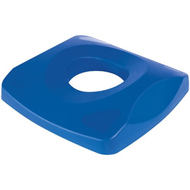 Rubbermaid Square Blue Recycling Bin Bottle & Can Lid for 23 Gallon