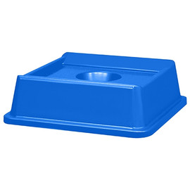 Rubbermaid Square Blue Recycling Bin Bottle & Can Lid for 35/50 Gallon