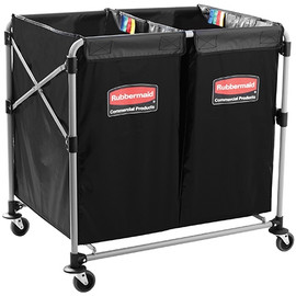 Rubbermaid (2)4 Bushel Collapsible Basket Truck  35.7 inch x 24.1 inch x 34.6 inch