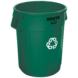 Rubbermaid Brute Green Recycling Bin 44 Gallon