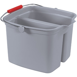 Rubbermaid Double Utility Pail 17 Quart Gray