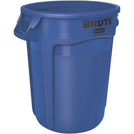 Rubbermaid Brute Trash Can Blue 17 inch x 16 inch - 10 Gallon
