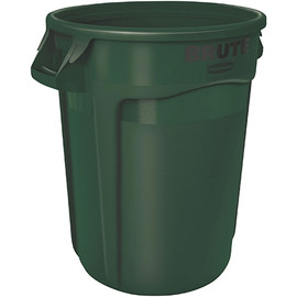 Rubbermaid Brute Trash Can Green 17 inch x 16 inch - 10 Gallon