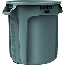 Rubbermaid Brute Trash Can Gray 17 inch x 16 inch - 10 Gallon