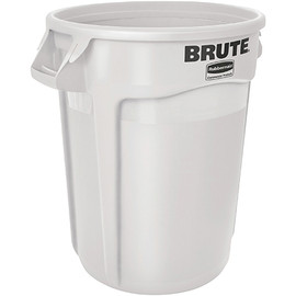 Rubbermaid Brute Trash Can White 17 inch x 16 inch - 10 Gallon