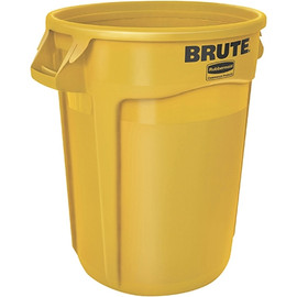Rubbermaid Brute Trash Can Yellow 17 inch x 16 inch - 10 Gallon