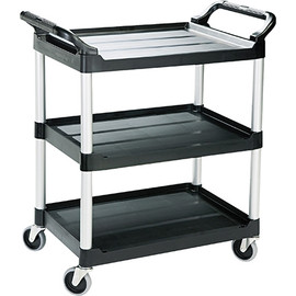 Rubbermaid Black Service Cart 34 inch x 19 inch x 38 inch